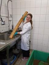 Sonja Filatova with Wellerholz in lab