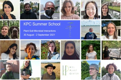 Collage of headshots of participants and tutors of the KPC Summer School